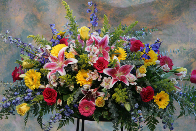 Garden Bright Casket Piece