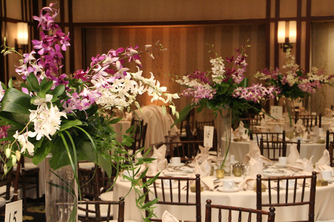 Contemporary Tropical Centerpieces