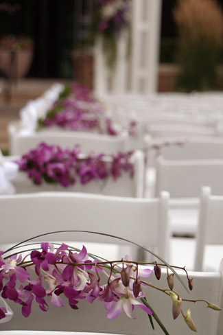 Contemporary Tropical Ceremony Aisle