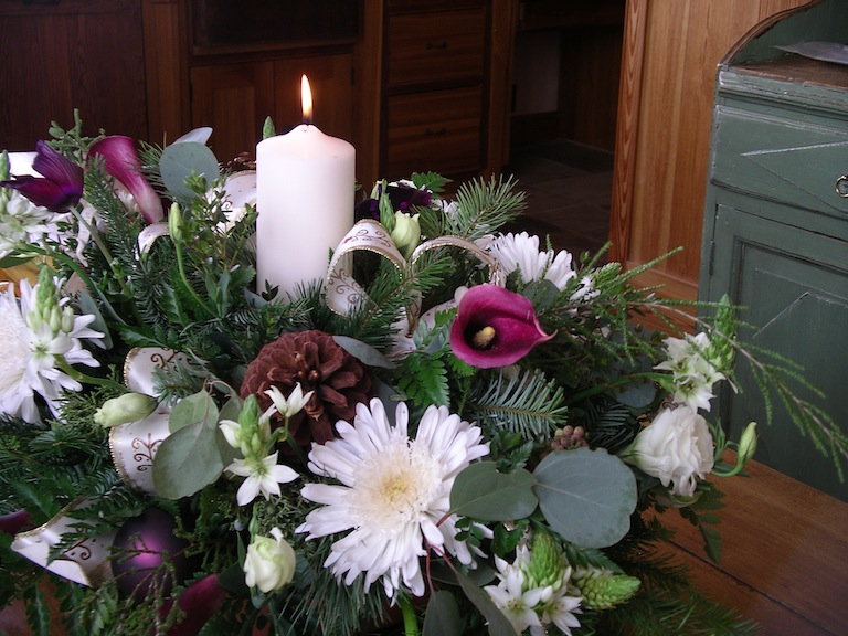 Christmas Arrangement with Candle