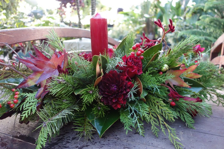 Christmas Flower Arrangement Boulder CO