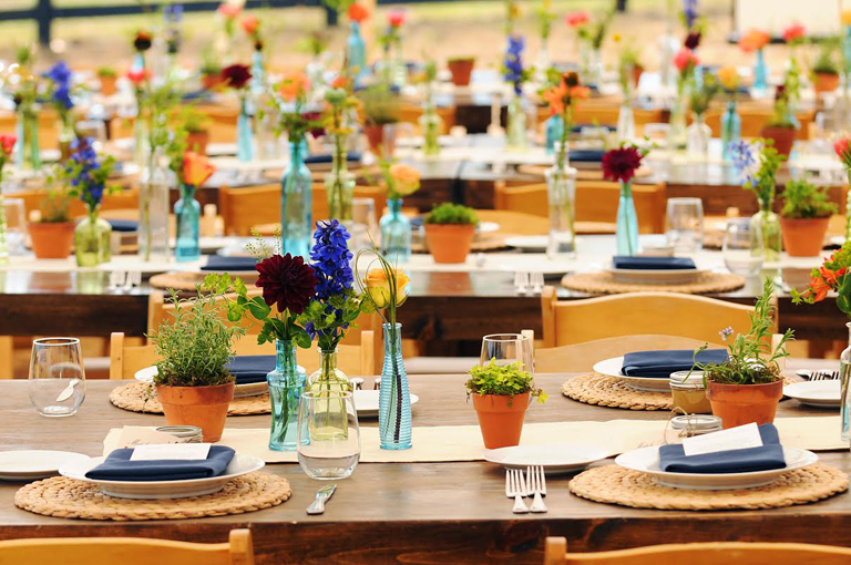 Countryside Table Arrangements