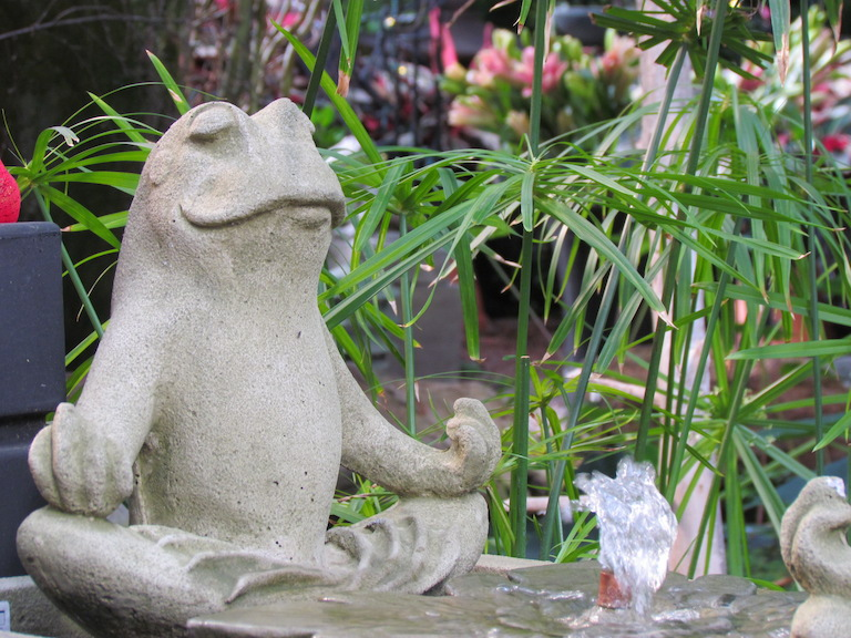 Yoga Frog Fountain