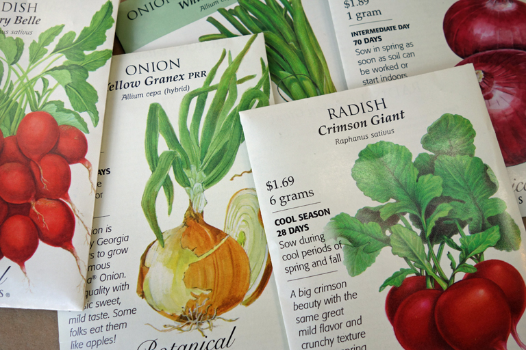 Vegetable seeds by Botanical Interests
