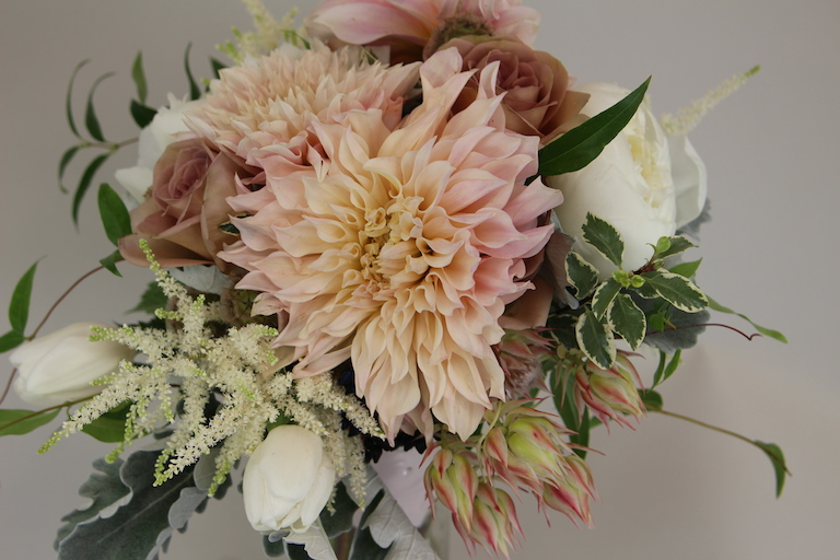 Protea, Roses, Tulips and Astilbe Bridal Bouquet