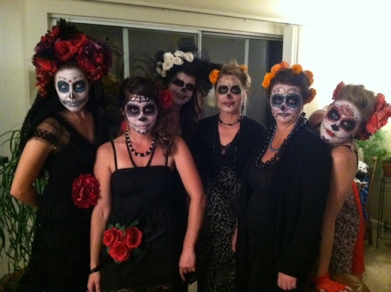 Sturtz girls dressed for Day of the Dead