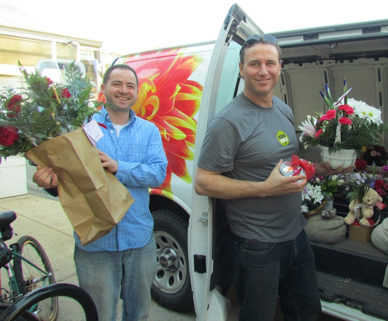 We love delivering flowers in Boulder on Valentine's Day