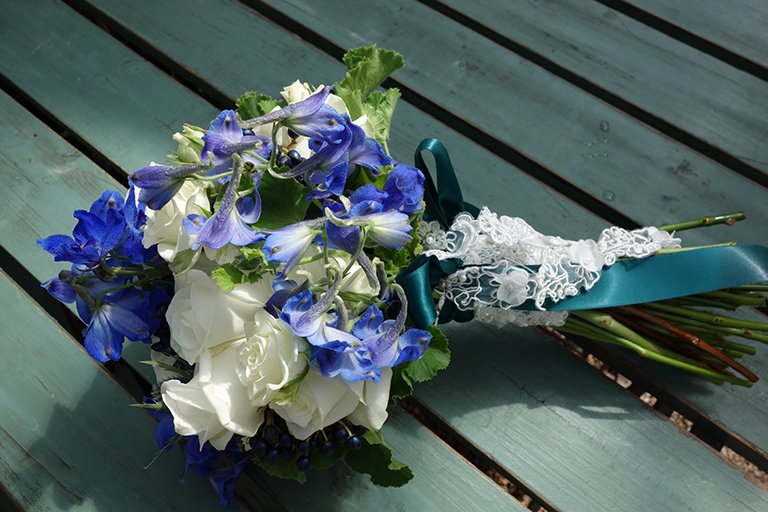 Delphinium and Rose
