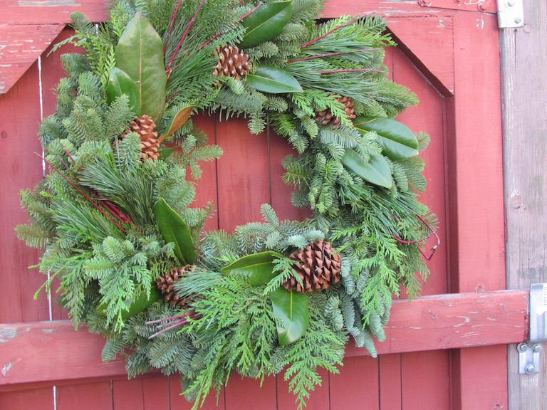 Wreaths with Magnolia Leaves