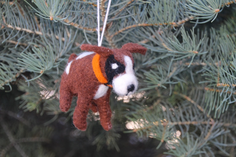 Dog tree ornament