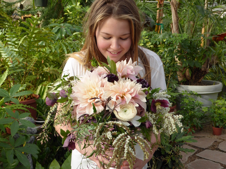 Big beautiful blush dahlias