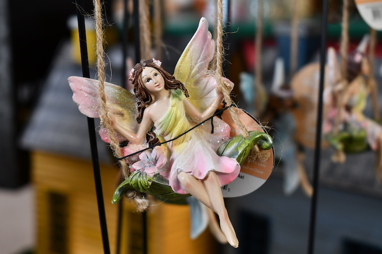 Fairy on a swing