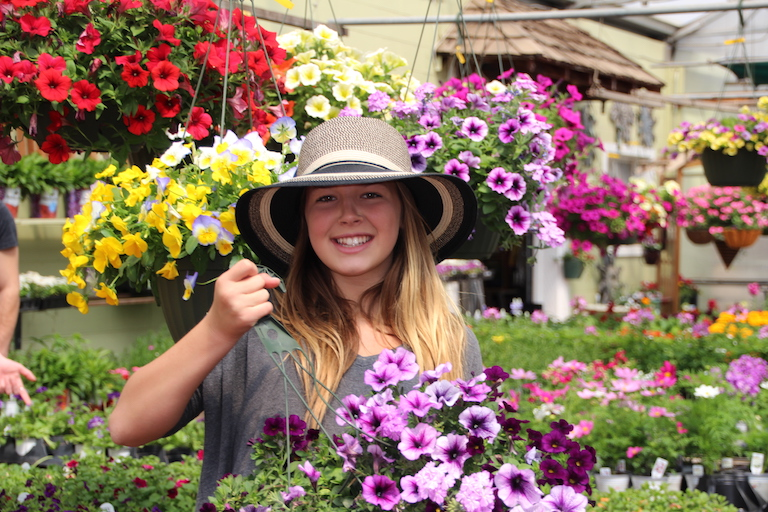 Hanging Baskets for the Patio and Wallaroo Hats