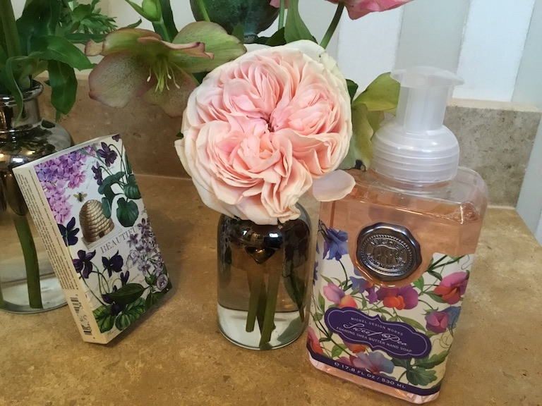 Beautifully packed, fragrant Michel Design Works lotions and soaps