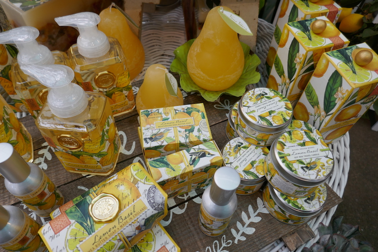 Lemon Basil Soaps, Lotions and Candles by Michel Design Works