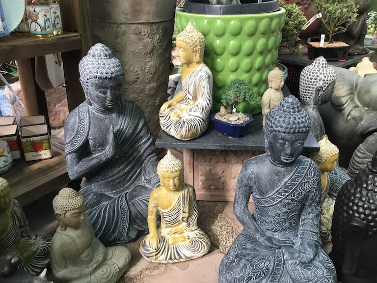 Serene and peaceful buddhas for the garden