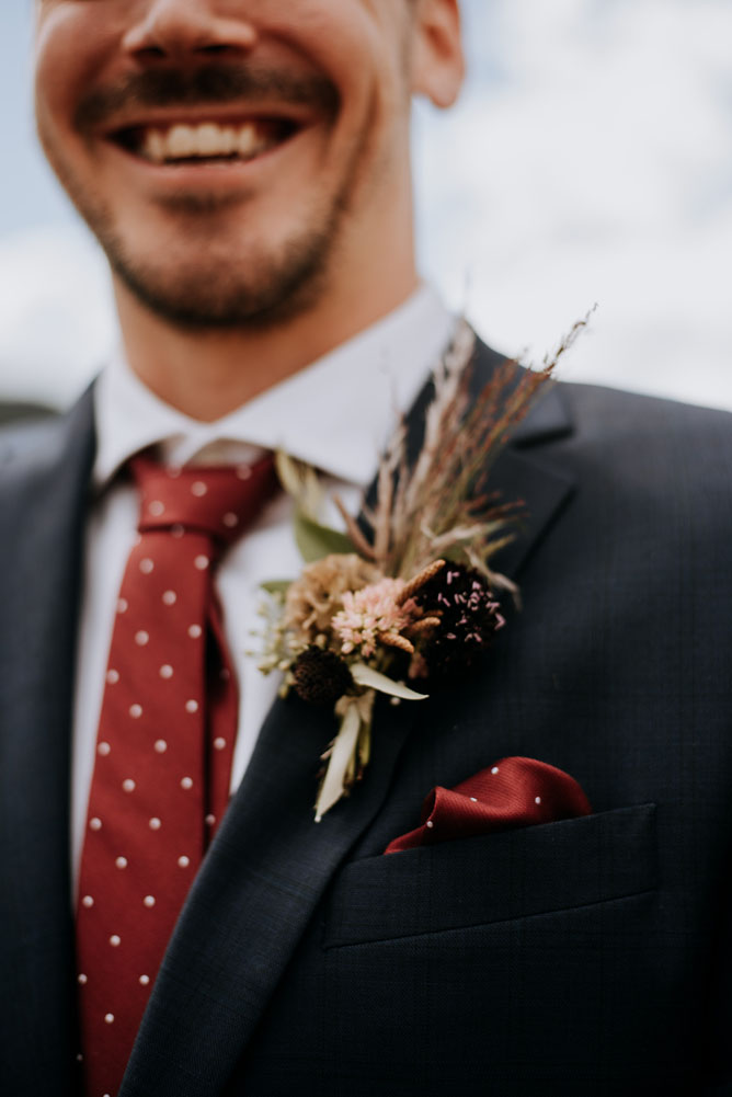 Grooms Boutonniere Sturtz and Copealand Boulder CO