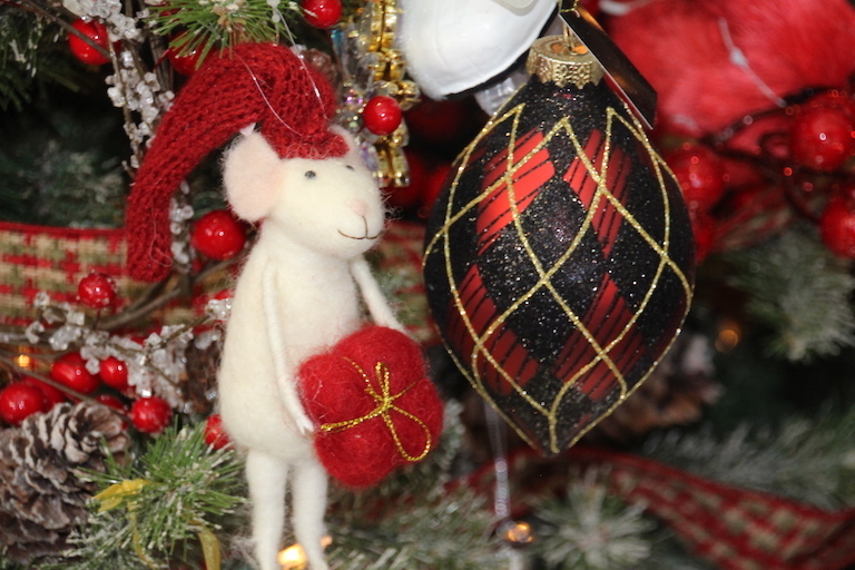 Hanging Mouse Ornament