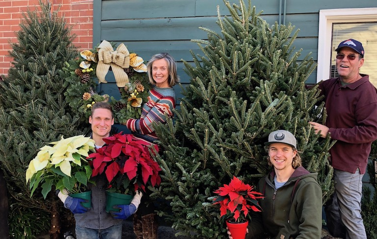 Trees, wreaths, poinsettias and lots of Holiday Cheer