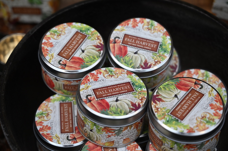 Fall Harvest Soy-Wax Travel Candles at Sturtz and Copeland