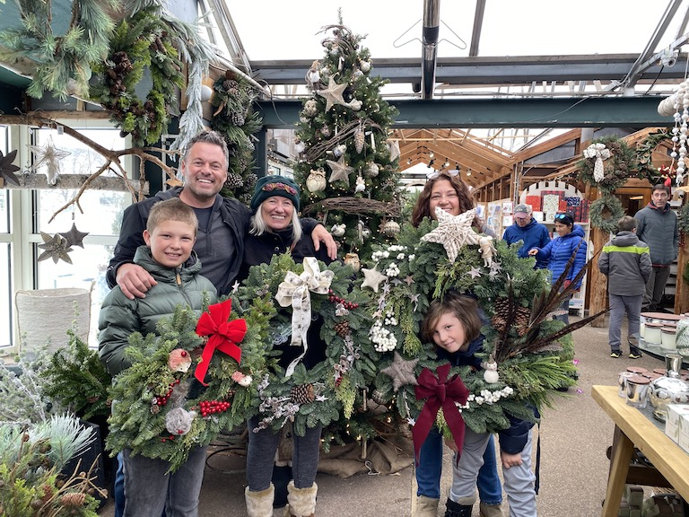 Wreath decorating class for the entire family