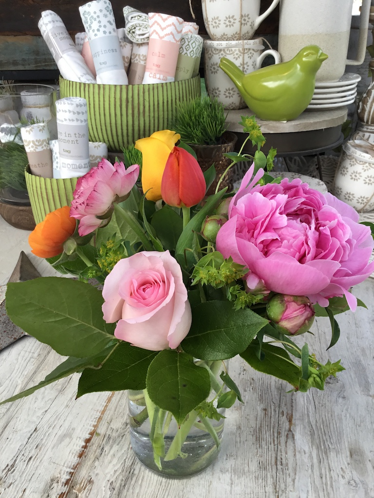 Tulips and peonies for the spring