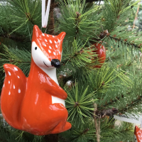 Owls, Foxes and Felt Mice Ornaments Whimsical, Natural, Bright, Bold and Nice